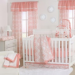 The Peanutshell™  Medallions 4-Piece Crib Set in Coral