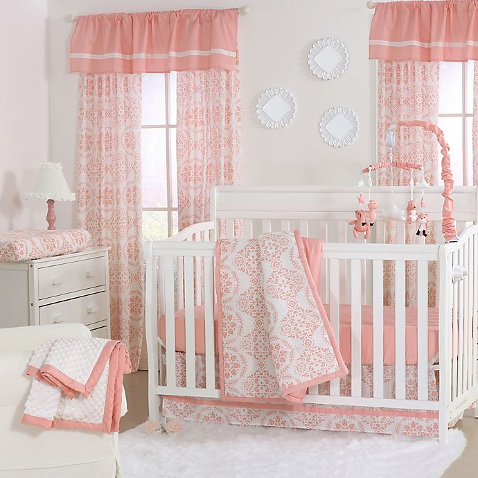 Alternate image 1 for The Peanutshell™  Medallions 4-Piece Crib Set in Coral