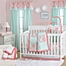 Part of the The Peanutshell™  Medallion Crib Bedding Collection in Coral/Mint