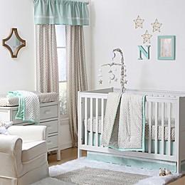 The Peanutshell™  Confetti 4-Piece Crib Set in Gold/Mint