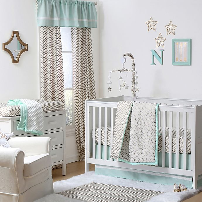 Alternate image 1 for The Peanutshell™  Crib Bedding Collection in Gold/Mint