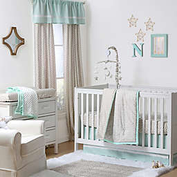 The Peanutshell™  Crib Bedding Collection in Gold/Mint