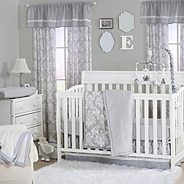 The Peanutshell™  Damask 4-Piece Crib Set in Grey
