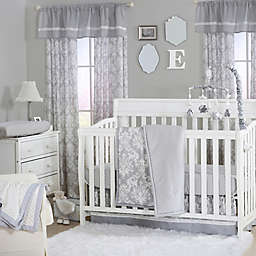 The Peanutshell™  Damask 4-Piece Crib Set in Grey