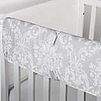 The Peanutshell™  Damask Crib Rail Guard in Grey