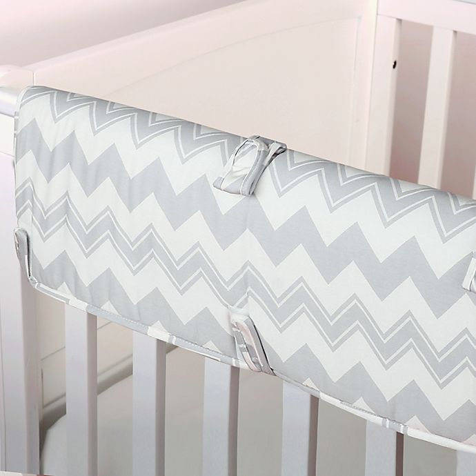 Alternate image 1 for The Peanutshell™  Chevron Crib Rail Guard in Grey