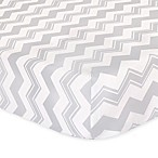The Peanut Shell™ Chevron Fitted Crib Sheet in Grey
