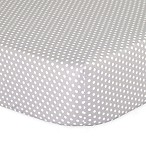 The Peanutshell™  Dots Fitted Crib Sheet in Grey