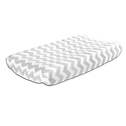 The Peanutshell™  Chevron Changing Pad Cover in Grey
