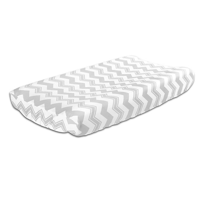 Alternate image 1 for The Peanutshell™  Chevron Changing Pad Cover in Grey