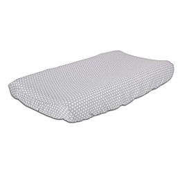The Peanutshell™ Dots Changing Pad Cover in Grey