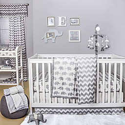 The Peanutshell™  Elephant Crib Bedding Collection in Grey
