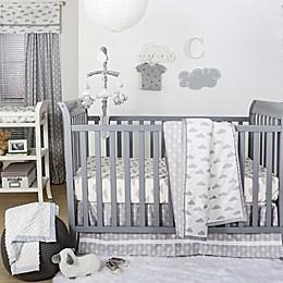 The Peanutshell™  Clouds 4-Piece Crib Bedding Set in Grey