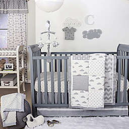 The Peanutshell™  Cloud Patchwork 4-Piece Crib Set in Grey