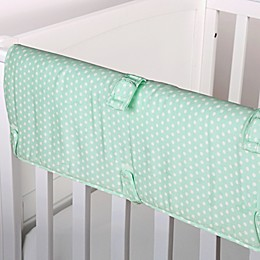 The Peanut Shell™ Mini-Dots Crib Rail Guard in Mint