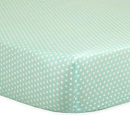 The Peanutshell™  Mini-Dots Fitted Crib Sheet in Mint