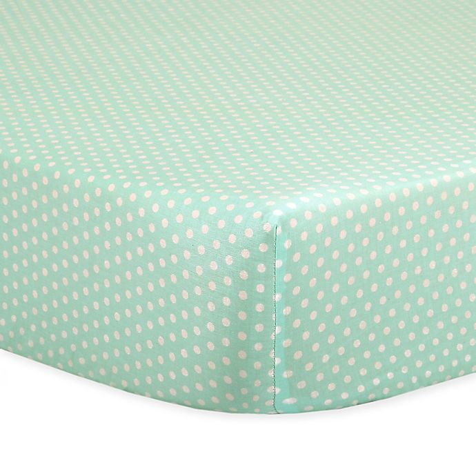 Alternate image 1 for The Peanutshell™  Mini-Dots Fitted Crib Sheet in Mint