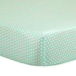 The Peanutshell™  Mini-Dots Fitted Crib Sheet in Mint