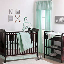 The Peanutshell™  Tribal Crib Bedding Collection in Mint