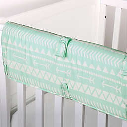 The Peanut Shell™ Tribal Crib Rail Guard in Mint