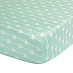 The Peanutshell™  Arrow Fitted Crib Sheet in Mint