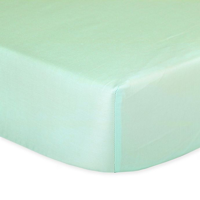 Alternate image 1 for The Peanutshell™  Solid Fitted Crib Sheet in Mint