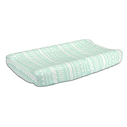 The Peanutshell™  Tribal Changing Pad Cover in Mint