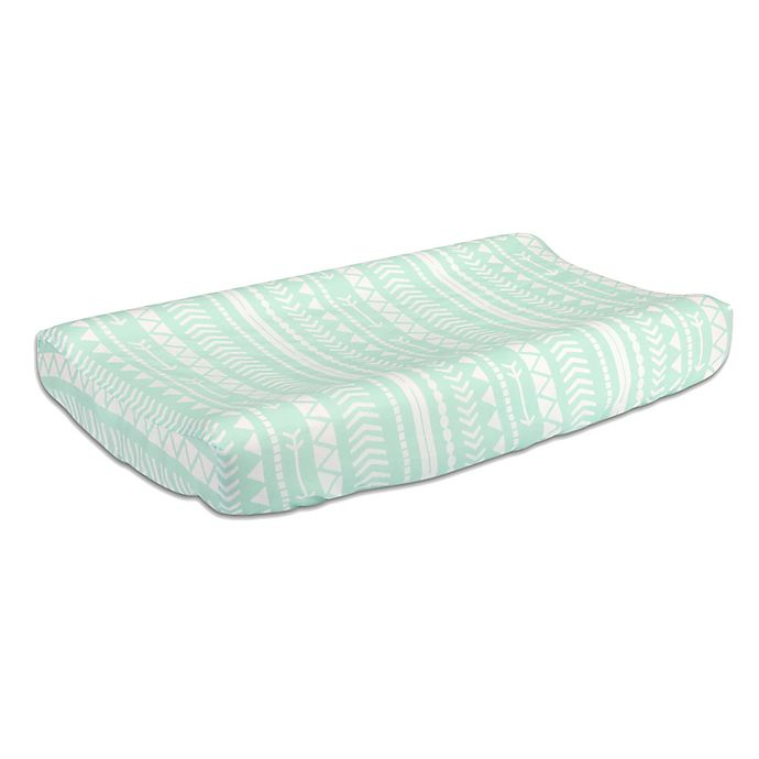 Alternate image 1 for The Peanutshell™  Tribal Changing Pad Cover in Mint