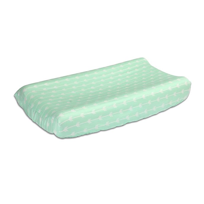 Alternate image 1 for The Peanutshell™  Arrows Changing Pad Cover in Mint