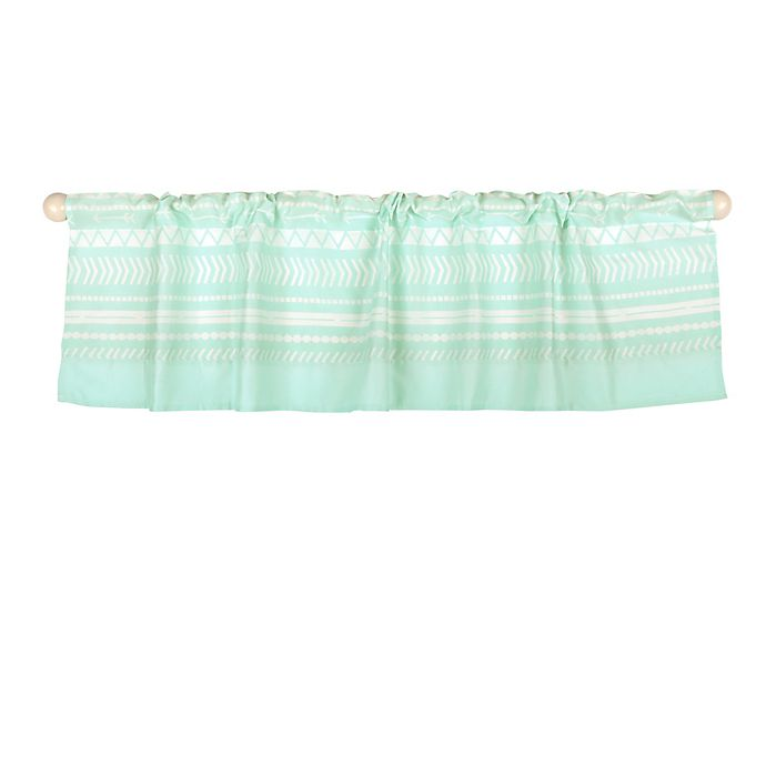Alternate image 1 for The Peanut Shell™ Tribal Window Valance in Mint