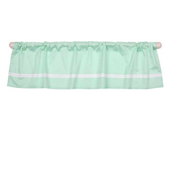 Alternate image 1 for The Peanut Shell™ Solid Window Valance in Mint