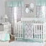 Part of the The Peanutshell™  Damask Crib Bedding Collection in Mint/Grey