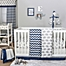 Part of the The Peanutshell™  Chevron Crib Bedding Collection in Navy/Grey