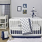 The Peanutshell™  Anchor 4-Piece Crib Bedding Set in White/Navy