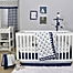 Part of the The Peanutshell™  Anchor Crib Bedding Collection in White/Navy