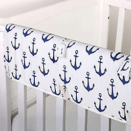 The Peanutshell™  Anchor Crib Rail Guard in White/Navy