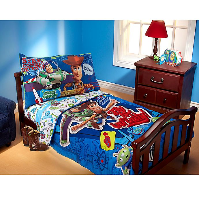 Toy Story Toddler Bed.Disney Toy Story Fly To Infinity 4 Piece Toddler Bedding