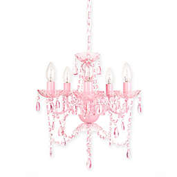 Sleeping Partners 5-Light Chandelier in Pink Sapphire