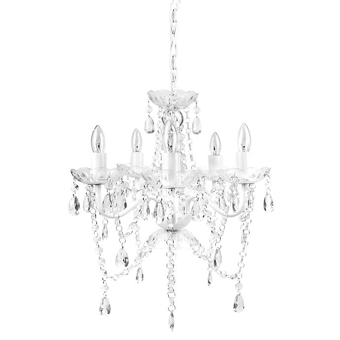 Alternate image 1 for Sleeping Partners 5-Light Chandelier in White Diamond