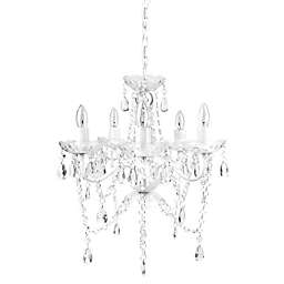 Sleeping Partners 5-Light Chandelier in White Diamond