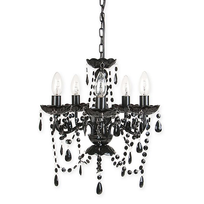 Alternate image 1 for Sleeping Partners 5-Light Chandelier in Black Onyx