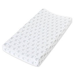 aden + anais™ essentials Baby Star Changing Pad Cover in White/Grey