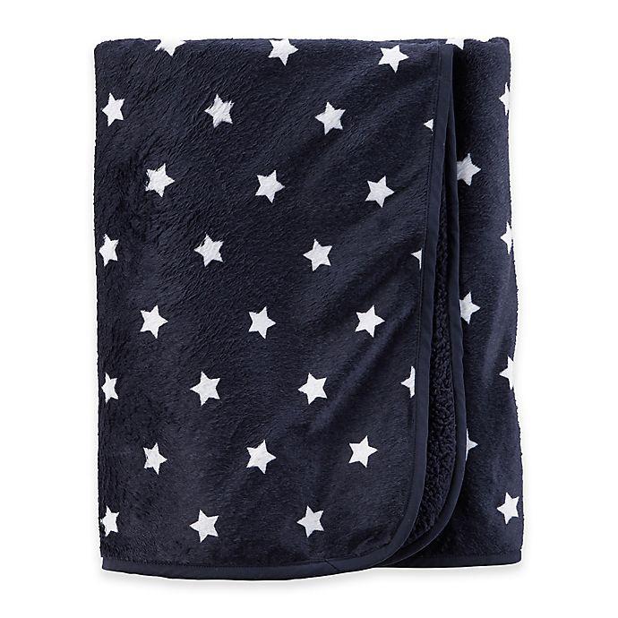 Carter S 174 Stars Blanket In Navy White Bed Bath Amp Beyond