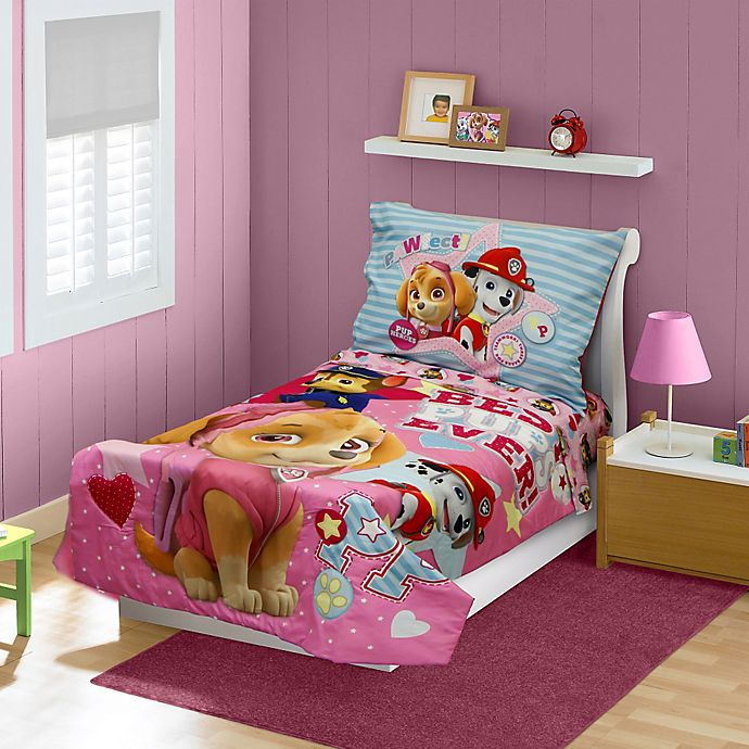 Nickelodeon Paw Patrol Best Pups Ever 4 Piece Toddler Bedding Set