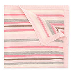 Elegant Baby® Multi-Stripe Knit Blanket in Pink