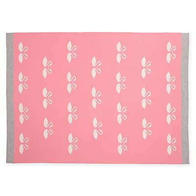 Elegant Baby® Lovely Swan Knit Blanket in Pink