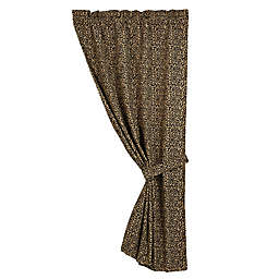 HiEnd Accents San Angelo Leopard Window Curtain Panel