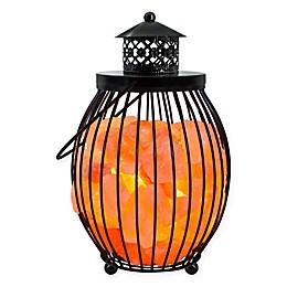 Himalayan Glow® Ionic Salt Crystal Metal Olivary Lantern