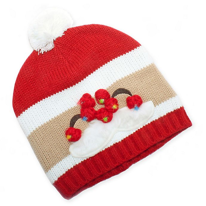 2e7e5019bd8be Ugly Christmas Light-Up Santa Hat