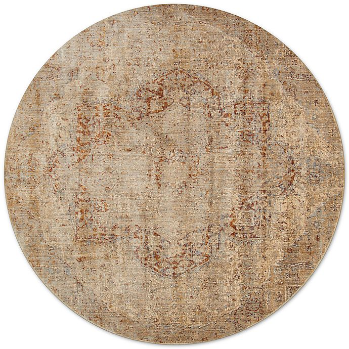 Alternate image 1 for Loloi Rugs Anastasia Crystal 9-Foot 6-Inch Round Area Rug in Beige